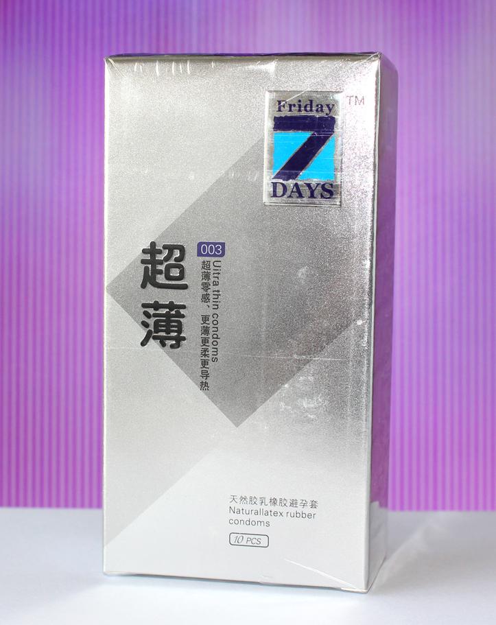 天然胶乳橡胶避孕套(7DAYS系列超薄)